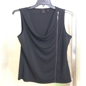 Sleeveless Black Shirt